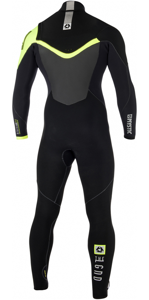 2019 Mystic Legend 5/3mm Chest Zip Wetsuit BLACK / LIME 180001