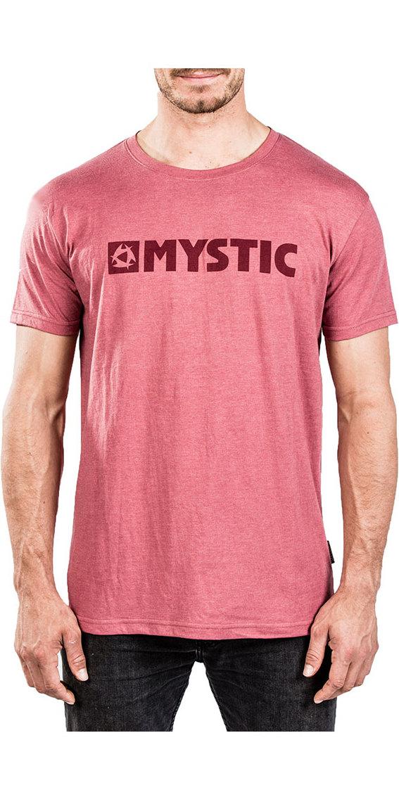 Mystic Brand 2.0 Tee Red Dark Melee 180044