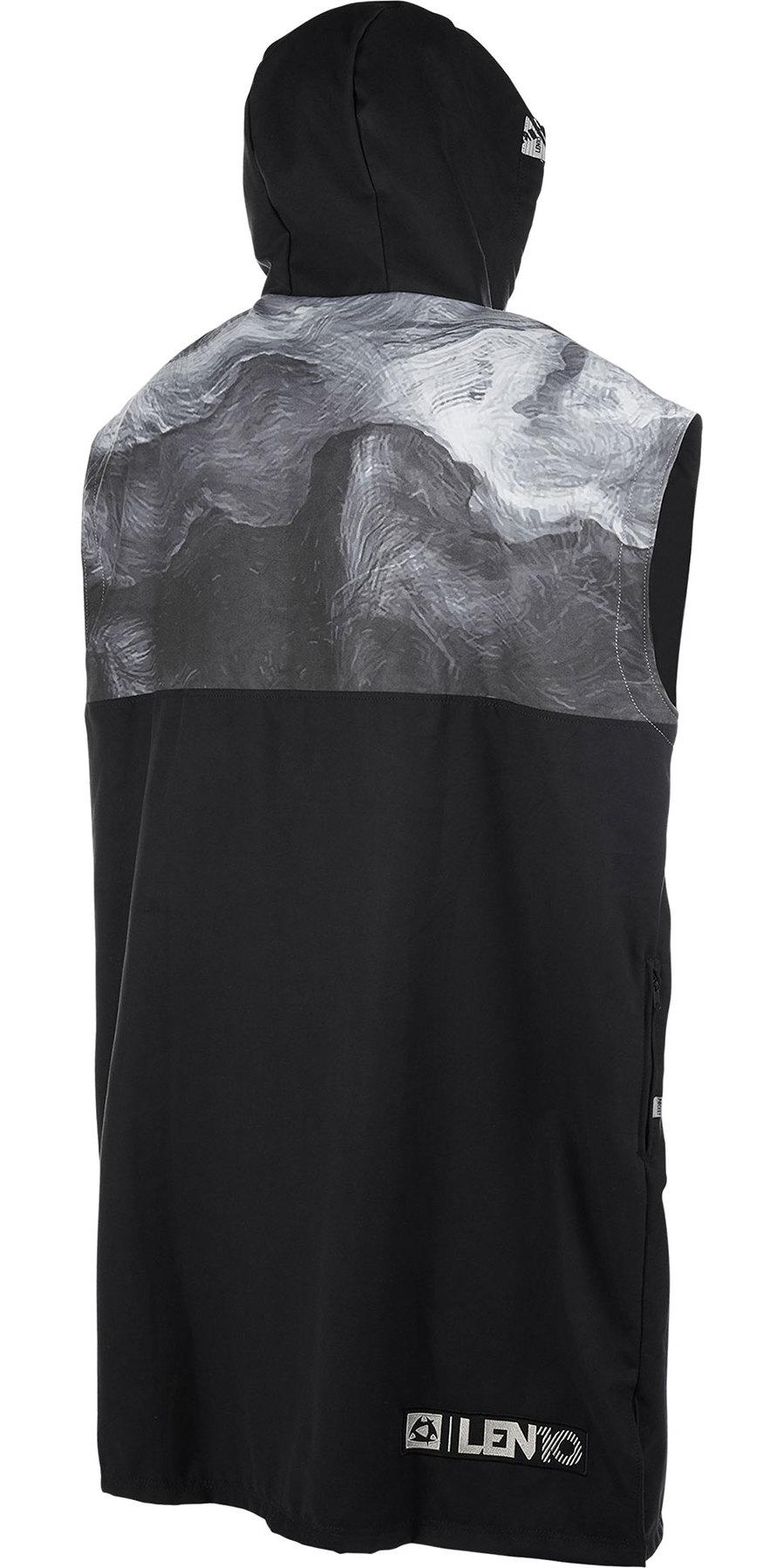 2019 Mystic QD Len10 Poncho / Change Robe Black White 190166