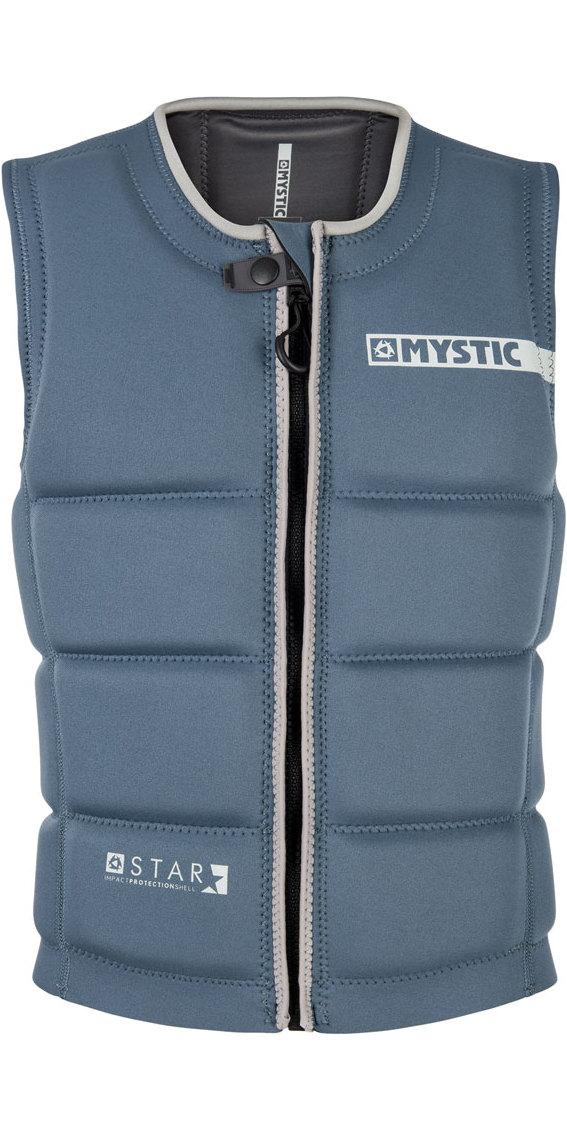 2019 Mystic Star Front Zip Wake Impact Vest Navy 180152
