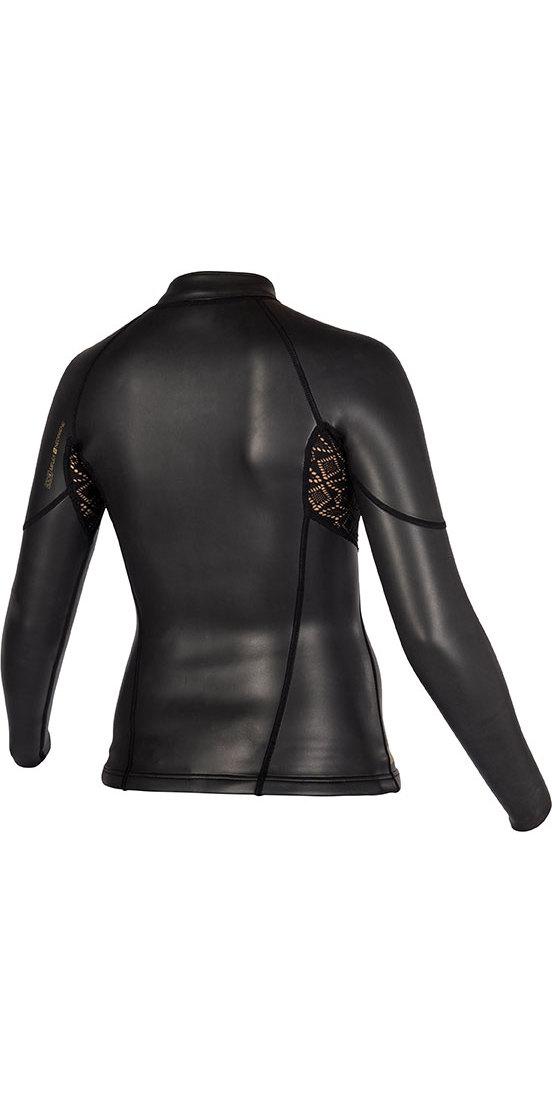 2019 Mystic Womens Diva Black Series 2mm Neoprene Jacket Black 180097