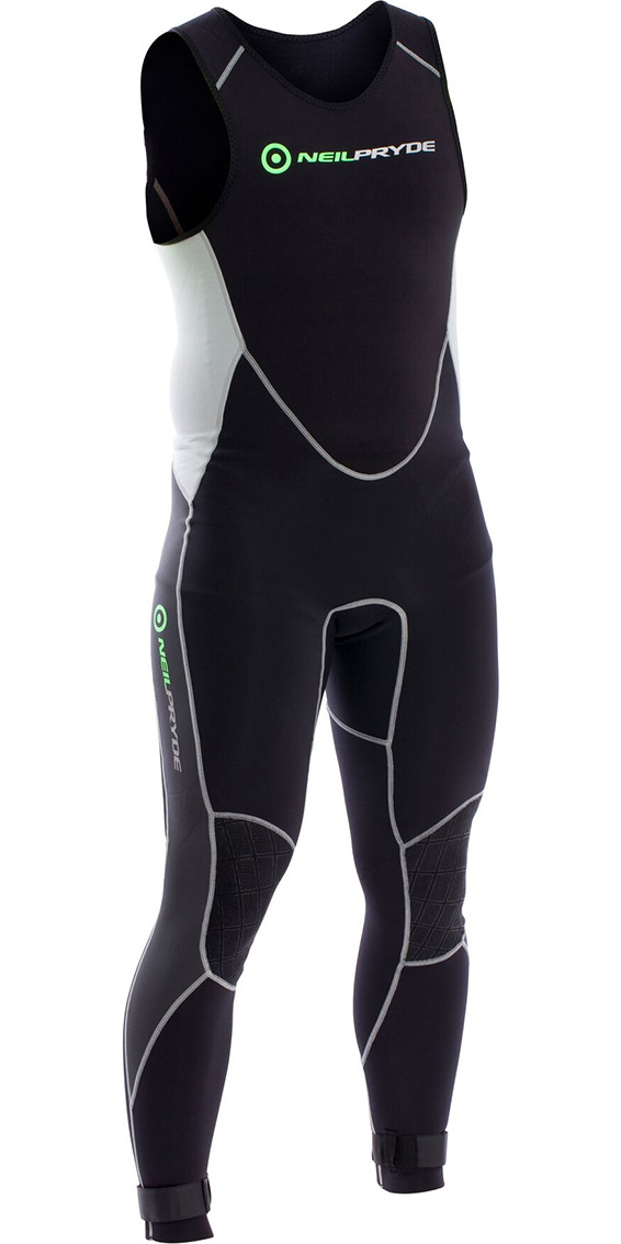 2018 Neil Pryde Elite Firewire 1mm Long John Wetsuit Black / Silver SAB606
