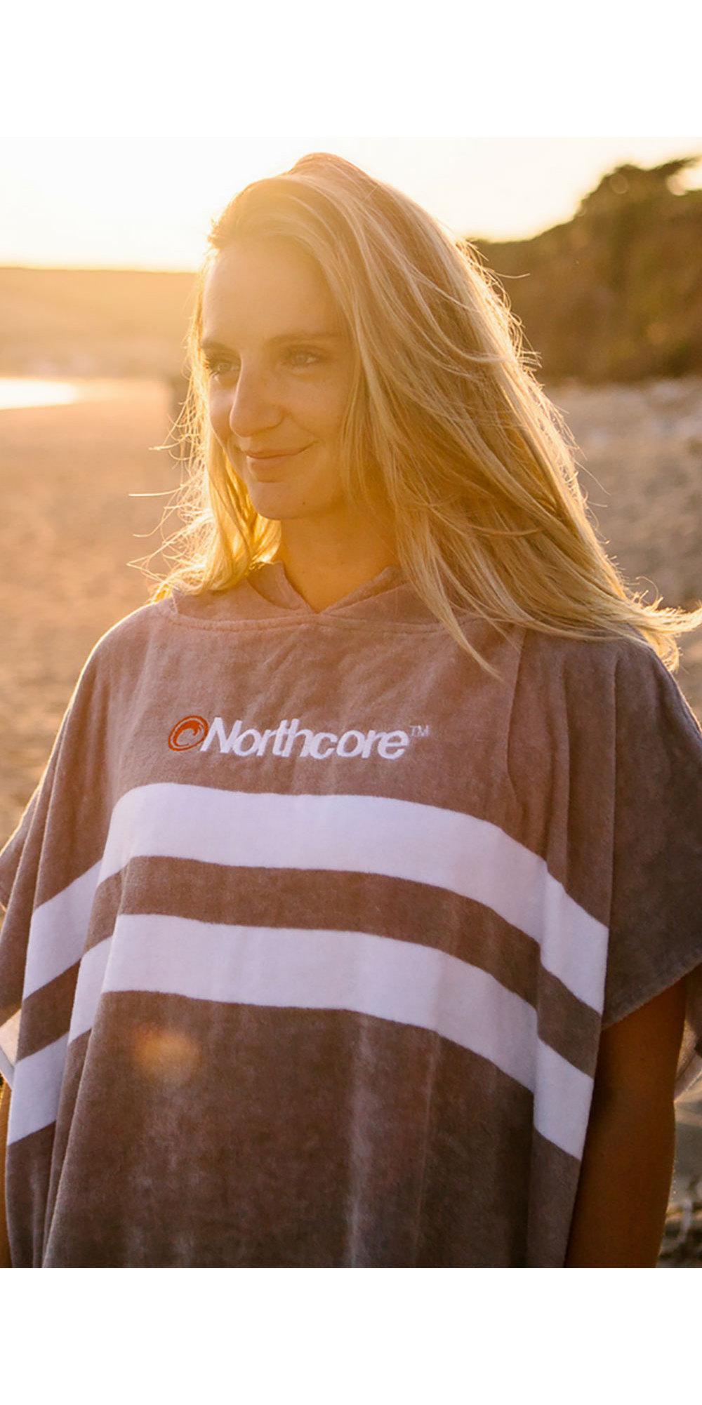 2019 Northcore Beach Basha Changing Robe Grey Stripes NOCO24L