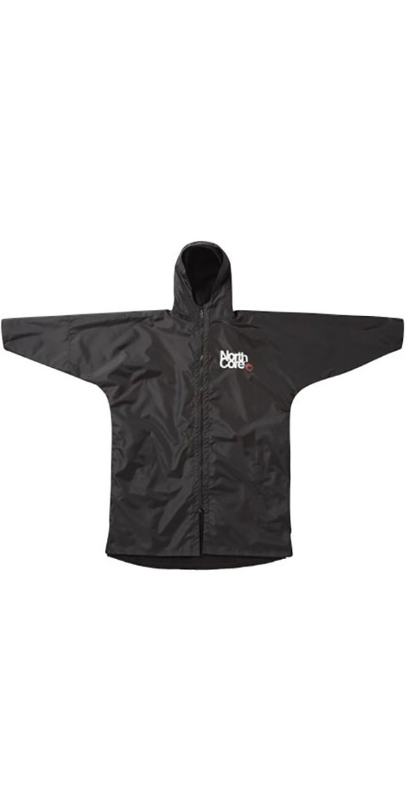 2019 Northcore Beach Basha Pro 4 Season Changing Robe BLACK NOCO24J