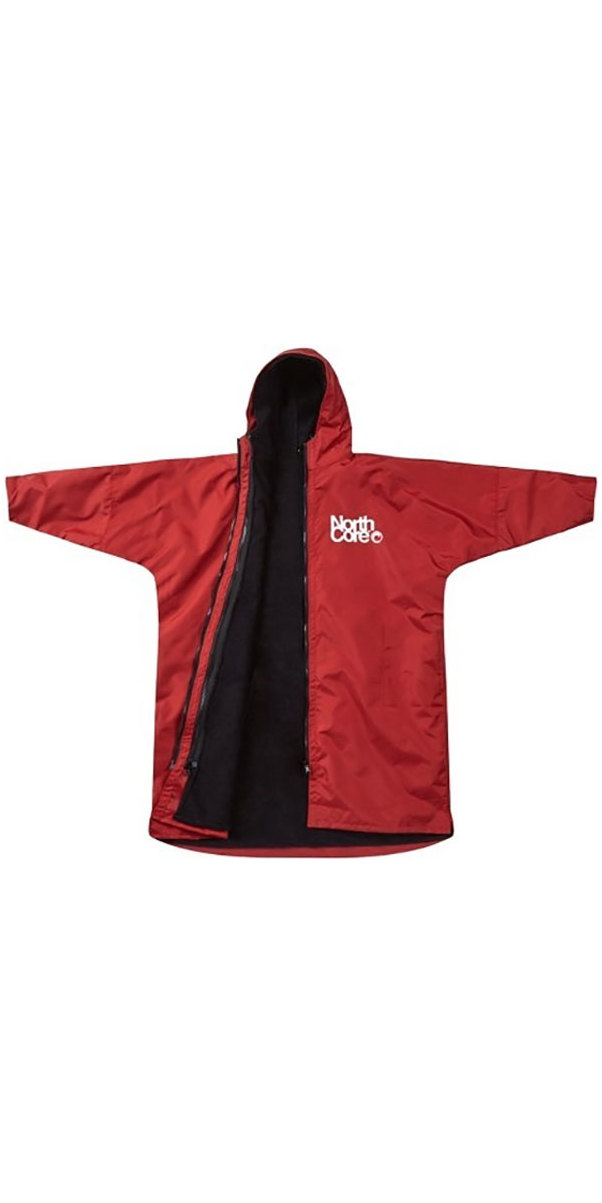 2019 Northcore Beach Basha Pro 4 Season Changing Robe RED NOCO24J