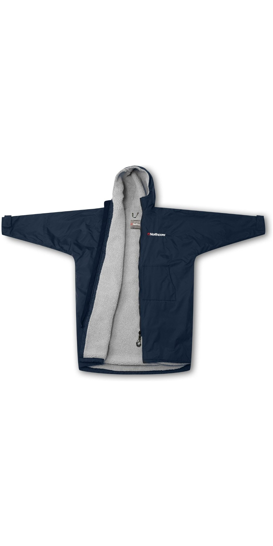 2019 Northcore Beach Basha Sport Long Sleeve Changing Robe Blue NOCO24N