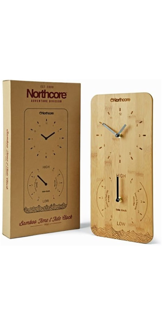 2018 Northcore Wall Mounted Bamboo Time Tide Clock Noco88d