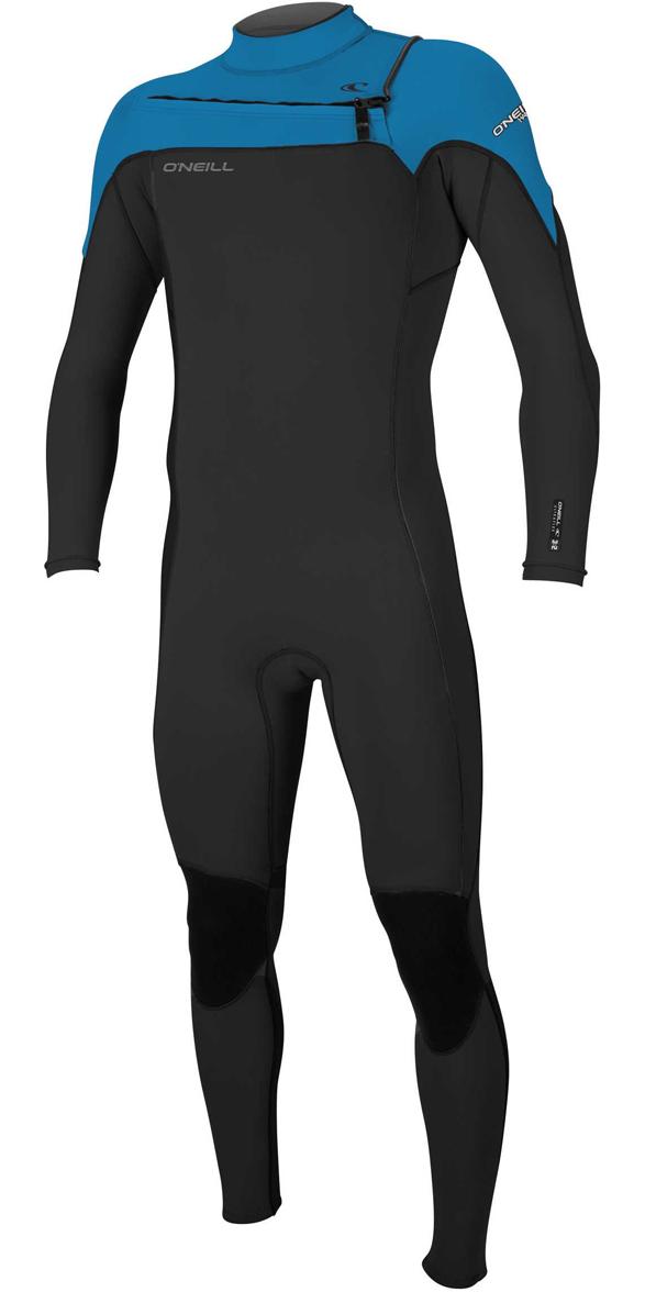 c1c882e551 2018 Oneill Hammer 3 2mm Chest Zip Wetsuit Black Ocean 4926 - Mens ...