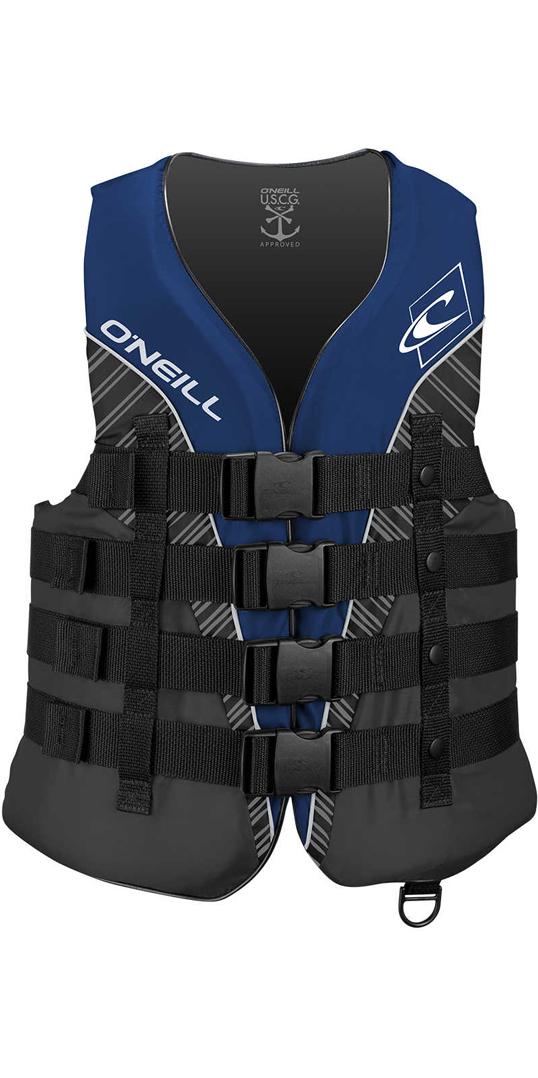 2018 O'Neill Superlite 50N CE Impact Vest PACIFIC/SMOKE / BLACK ...