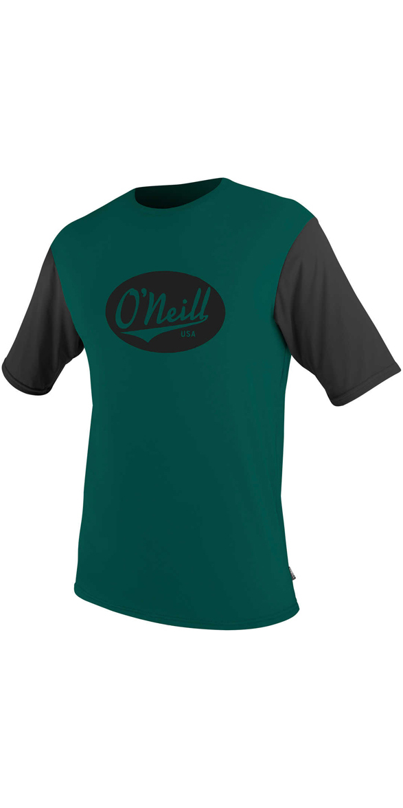 O'Neill Premium Skins Graphic Short Sleeve Rash Tee REEF / BLACK 5077SB