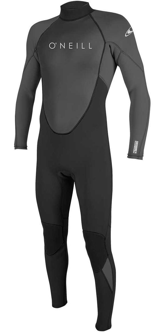 2019 O'Neill Reactor II 3/2mm Back Zip Wetsuit BLACK / GRAPHITE 5040