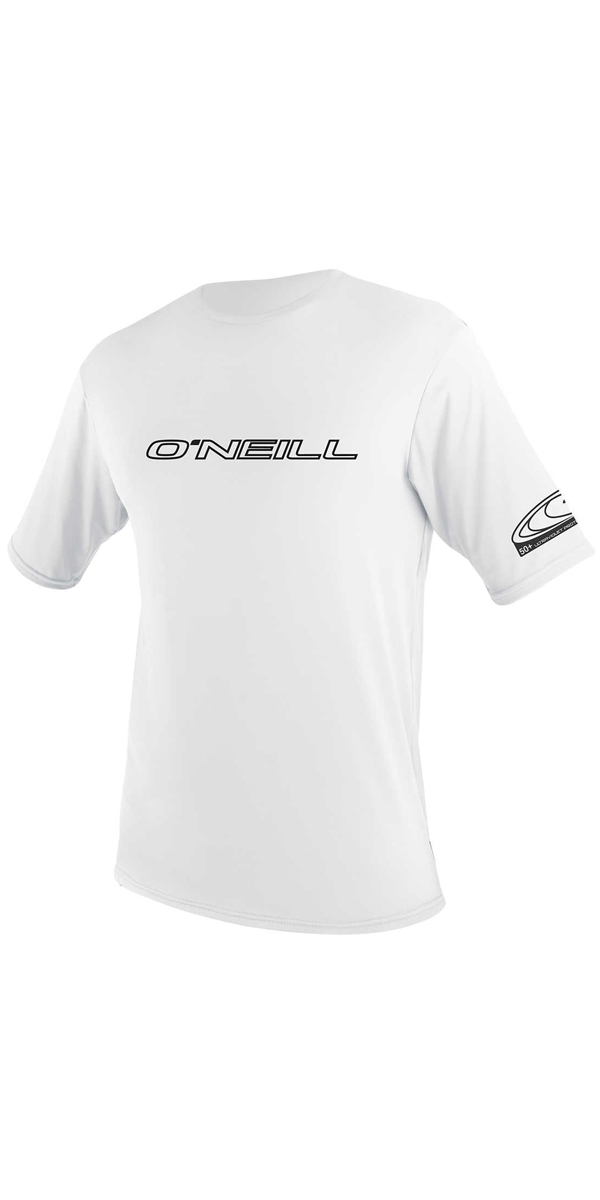 2019 O'Neill Youth Basic Skins Short Sleeve Rash Tee WHITE 3422