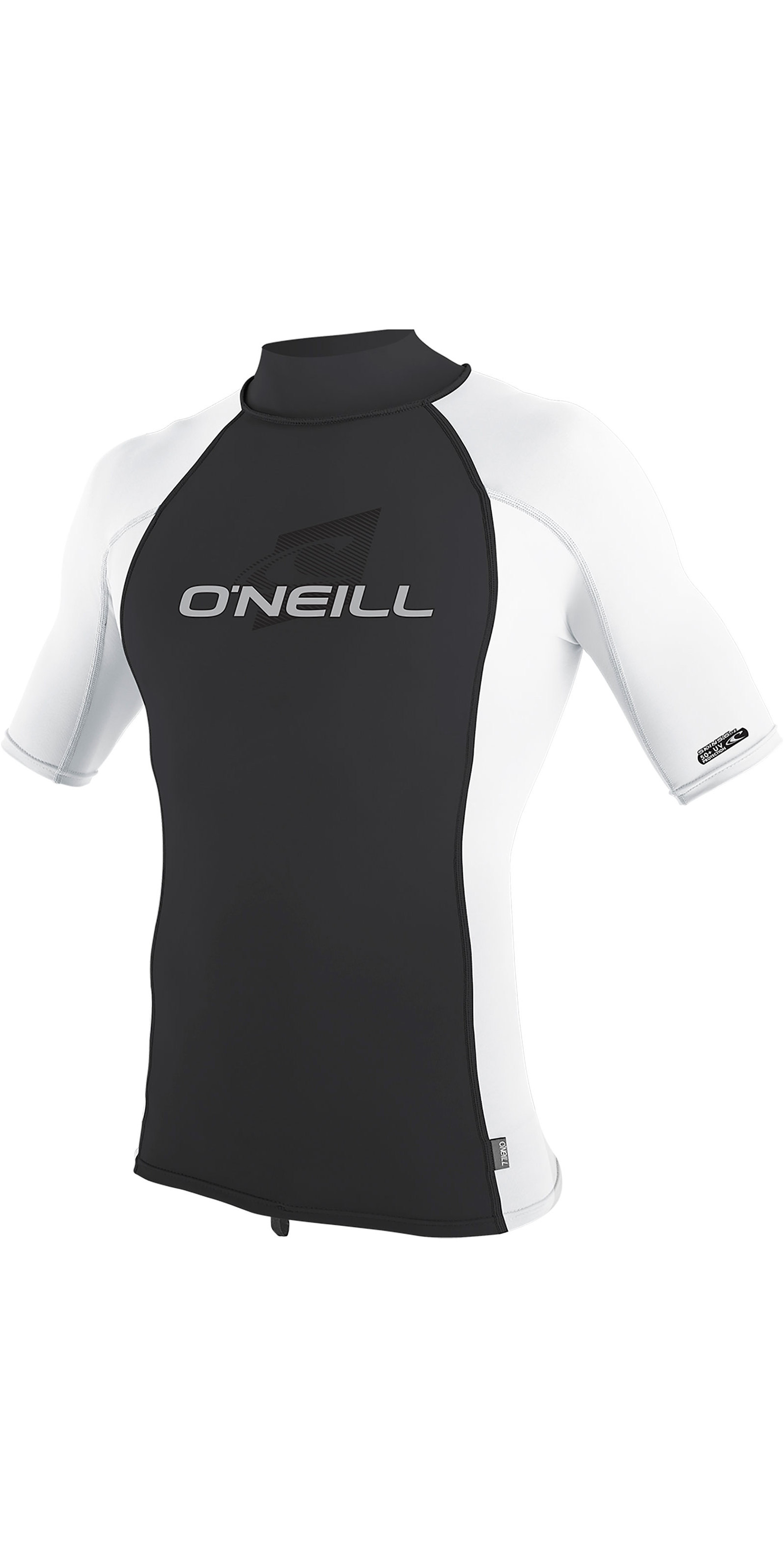 944daaf3d85 2019 Oneill Skins Short Sleeve Turtle Neck Rash Vest White Midnite Oil 4517  - Short Sleeve | Wetsuit Outlet