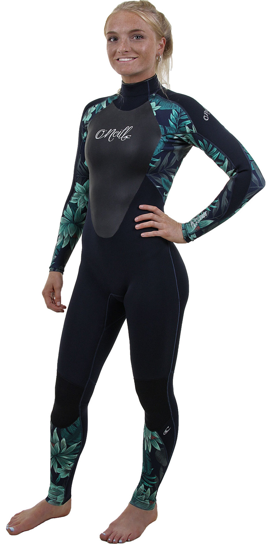 2019 O'Neill Womens Epic 5/4mm Back Zip GBS Wetsuit Abyss / Faro 4218