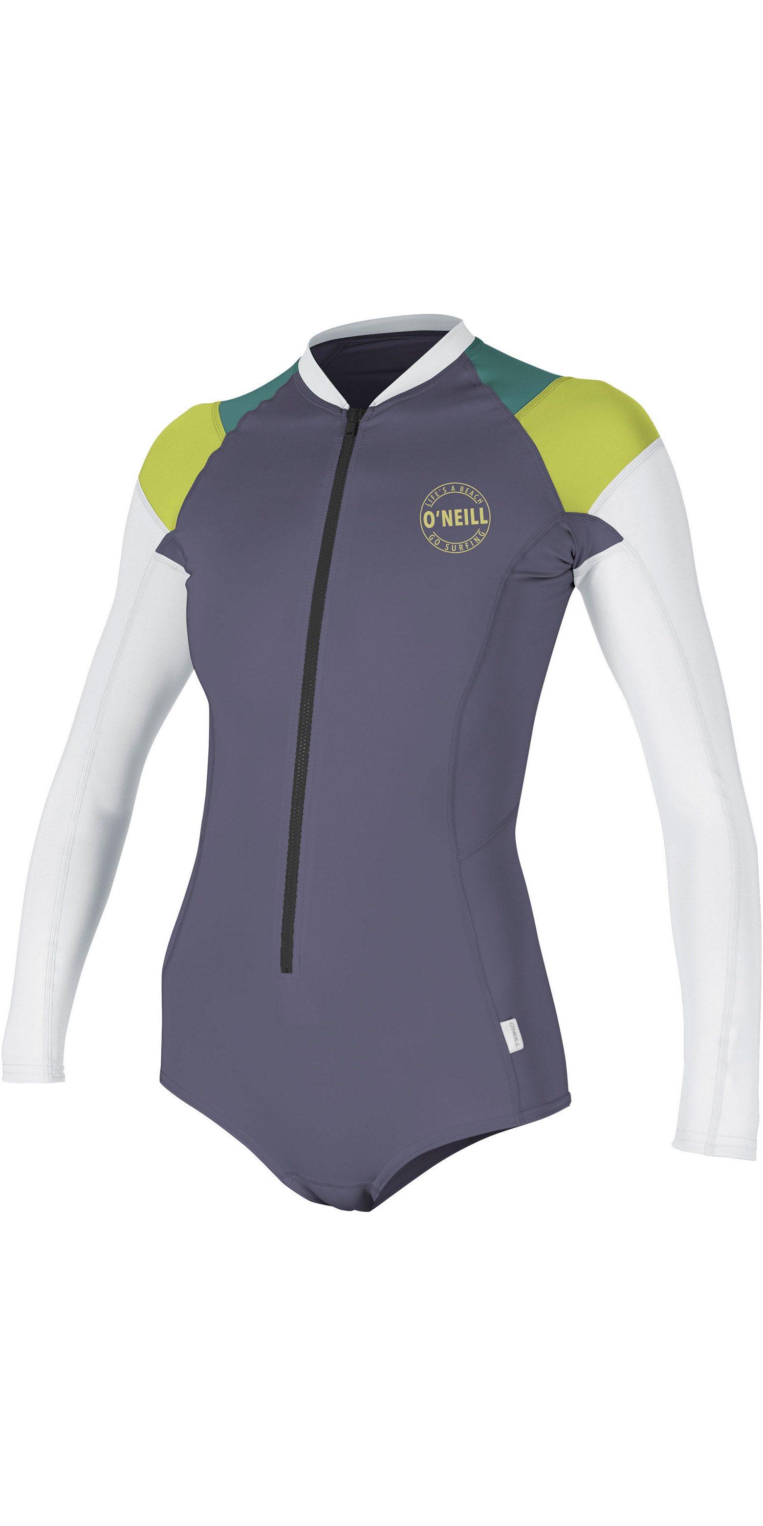 2019 O'Neill Womens Full Zip Long Sleeve Surf Suit Dusk / Lime 5312S