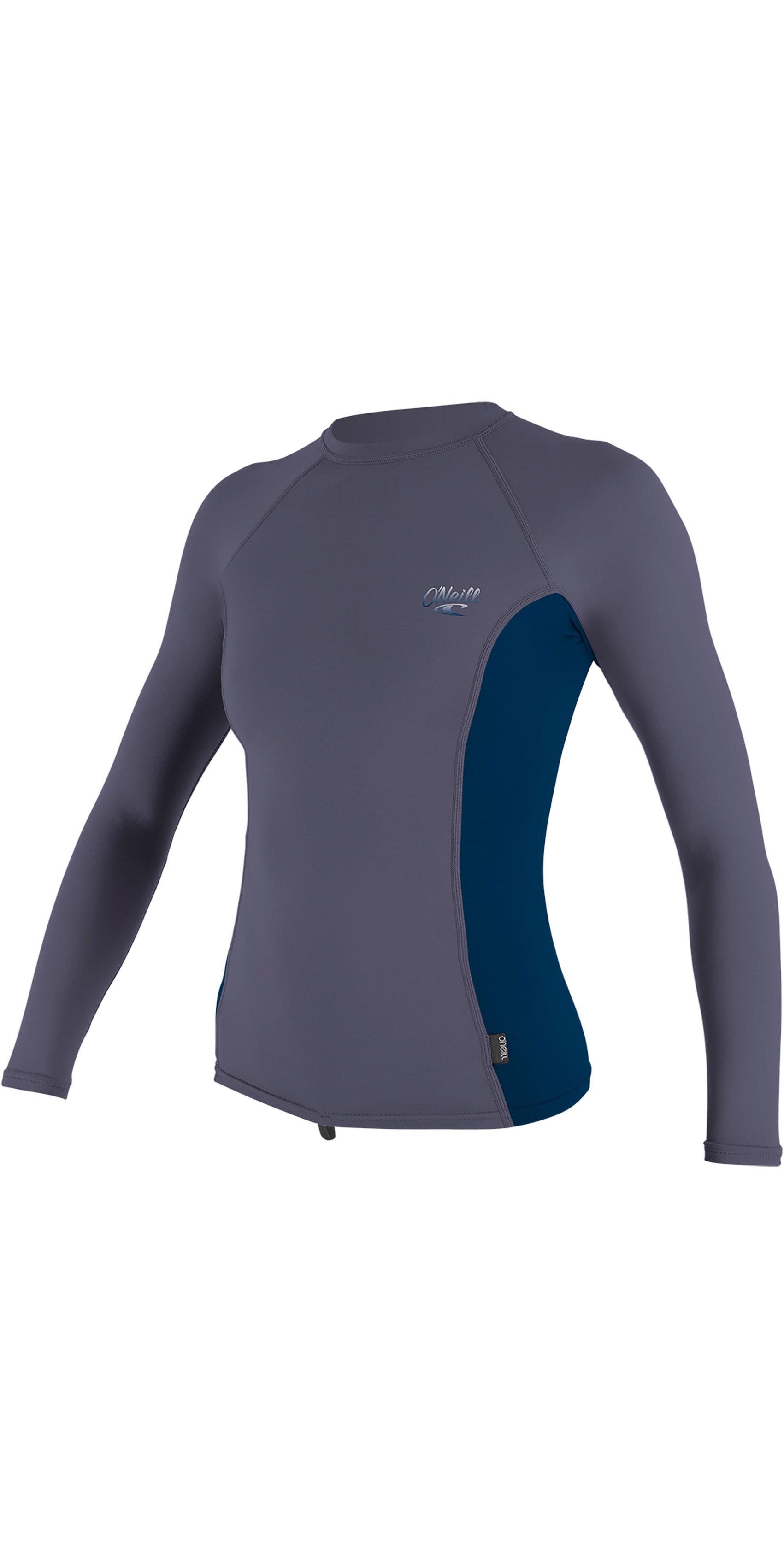 2019 O'Neill Womens Premium Skins Long Sleeve Rash Vest Dusk / Abyss 4172