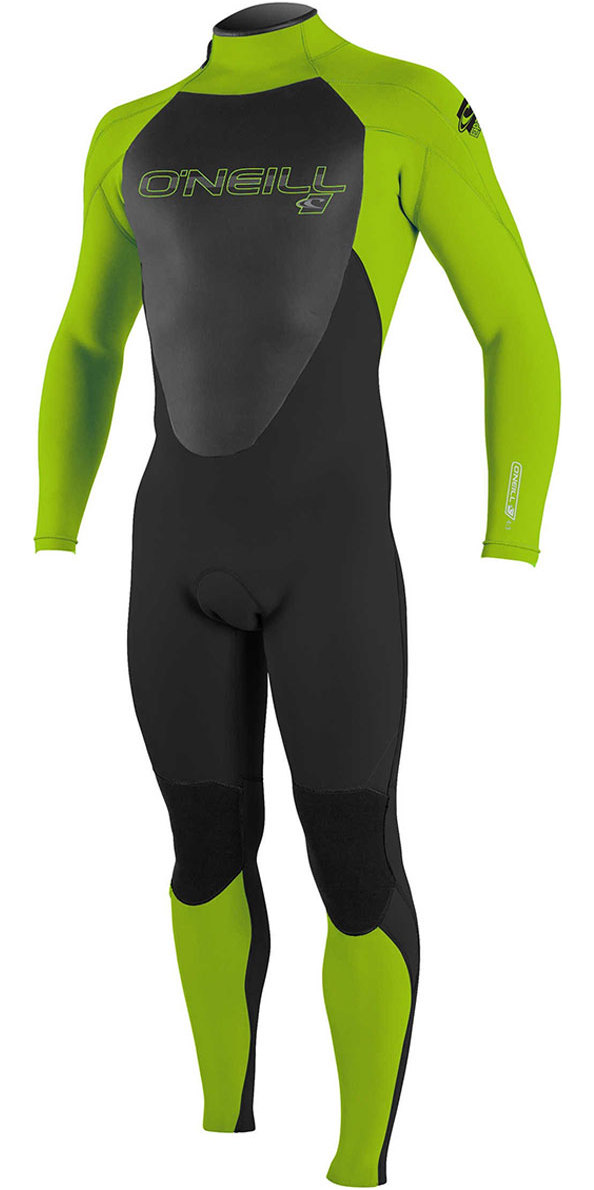 O'Neill Youth Epic 3/2mm Back Zip GBS Wetsuit BLACK / Day Glo 4215