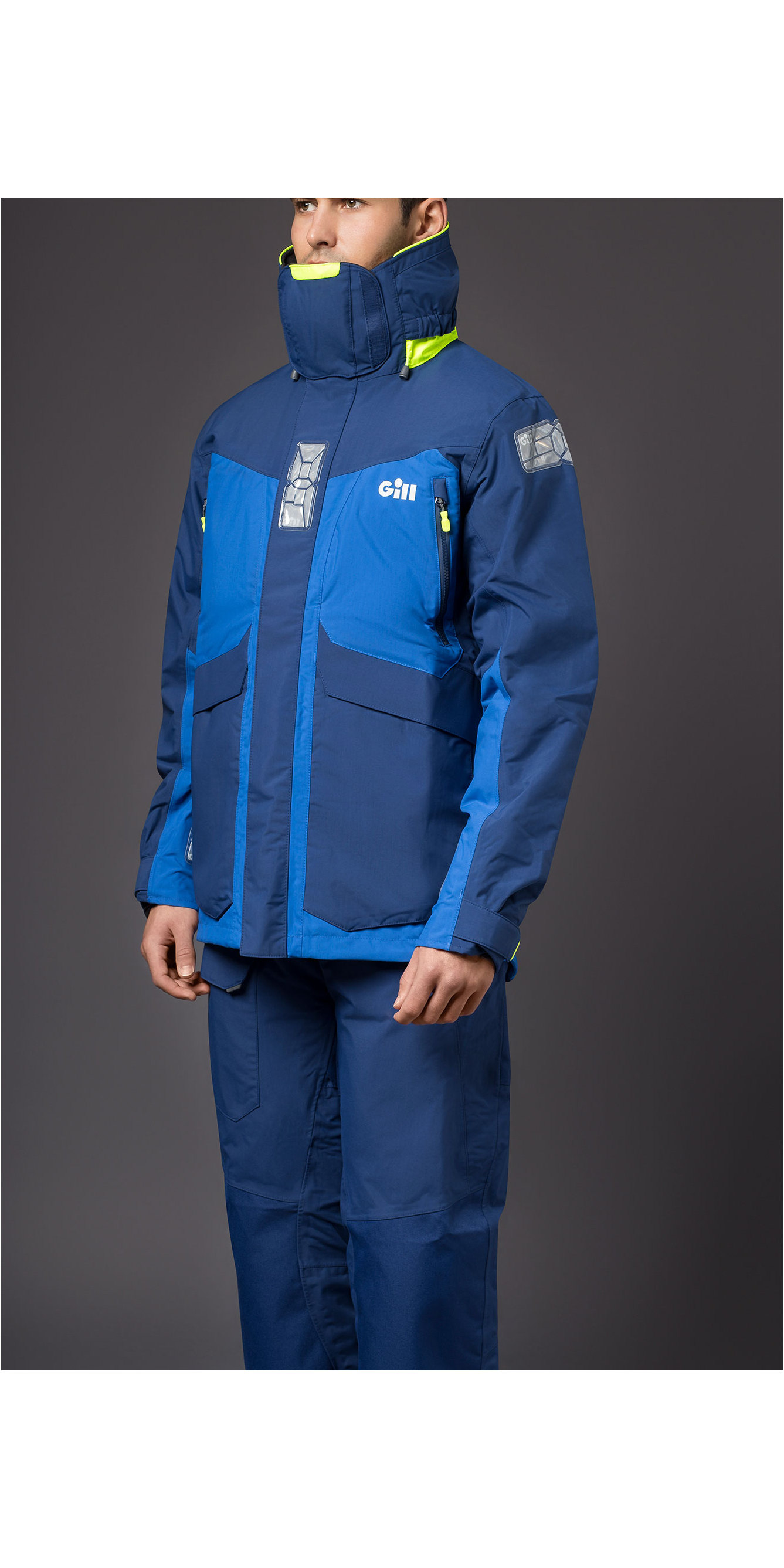 3fc167ac0 2019 Gill OS2 Mens Offshore Jacket OS24J & Trouser OS24T Combi Set Blue