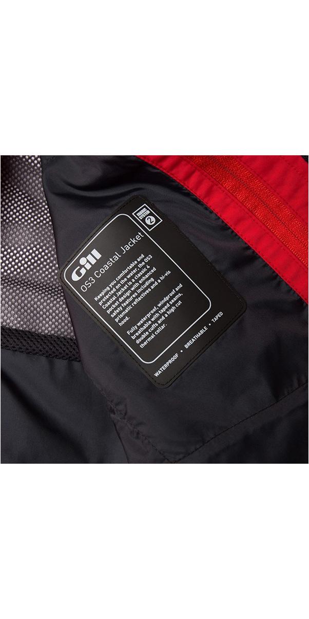 2019 Gill OS3 Mens Coastal Jacket BRIGHT RED OS31J