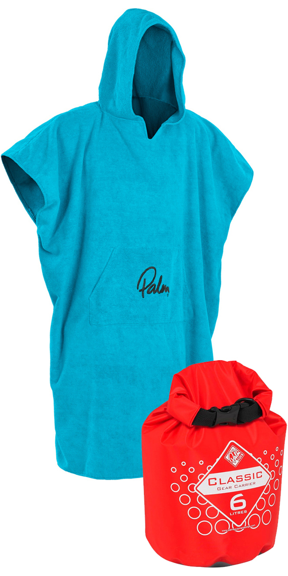 2017 Palm Changing Robe Poncho 11847 & Classic 6L Gear Carrier Dry Bag 10439 - Package Deal