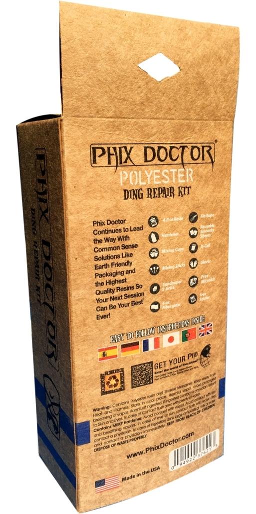 2019 Phix Doctor PU Polyester Resin Repair Kit - Large 4oz PHD006