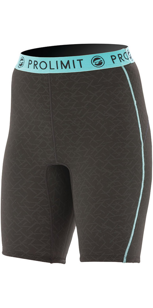 2019 Prolimit Womens 2mm Airmax Neoprene SUP Shorts Black / Aqua 84780