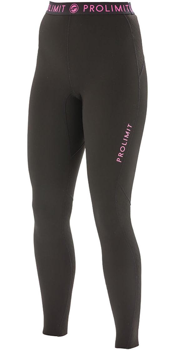 2018 Prolimit Womens 2mm Airmax Neoprene SUP Trousers Black / Pink 84730