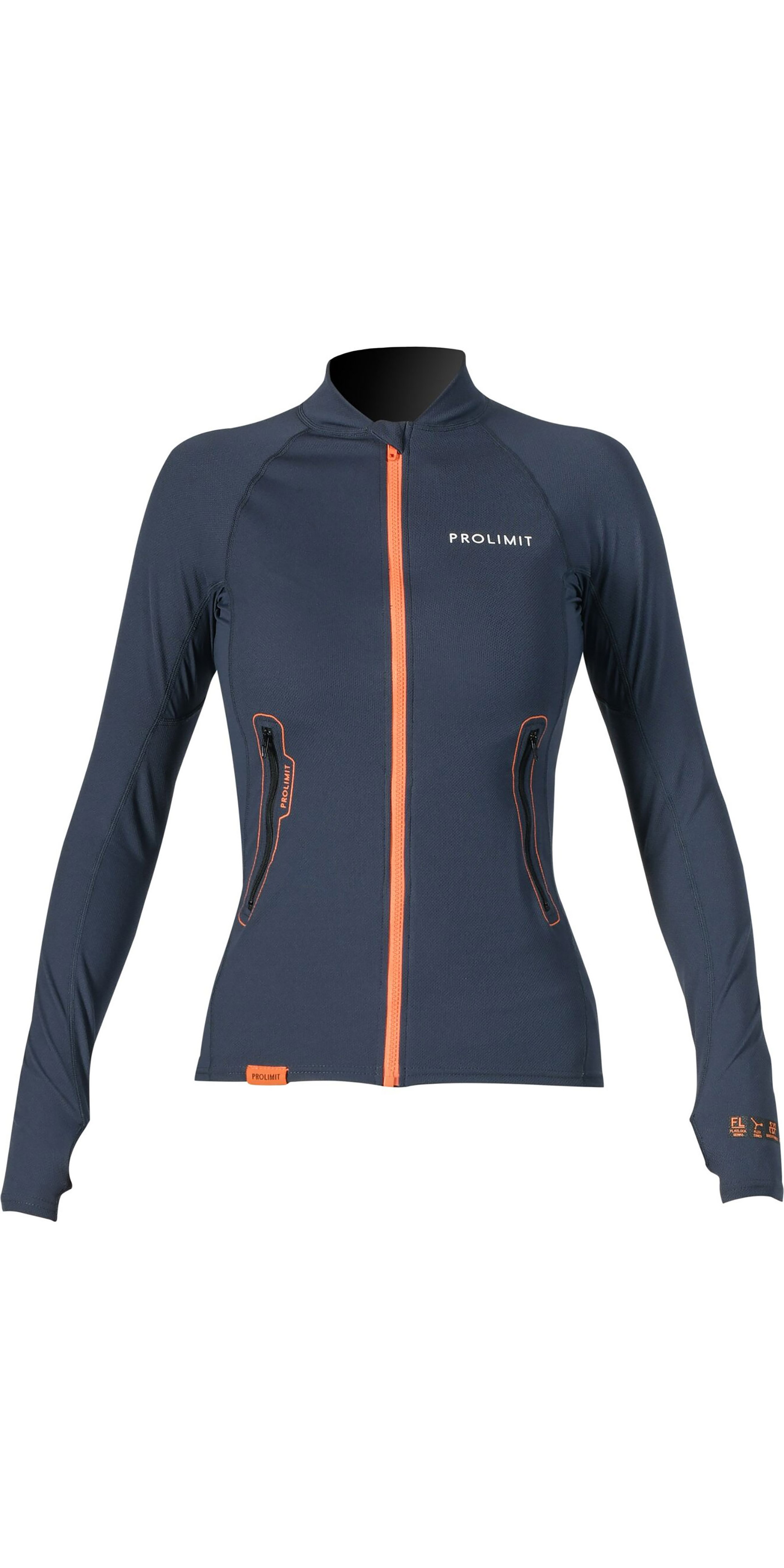 2019 Prolimit Womens Loosefit Quick Dry SUP Top Slate / Orange  84700