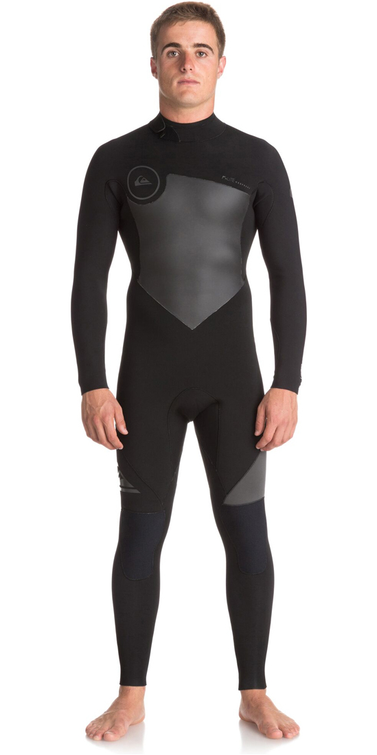2018 Quiksilver Syncro Series 3/2mm GBS Back Zip Wetsuit JET BLACK EQYW103037