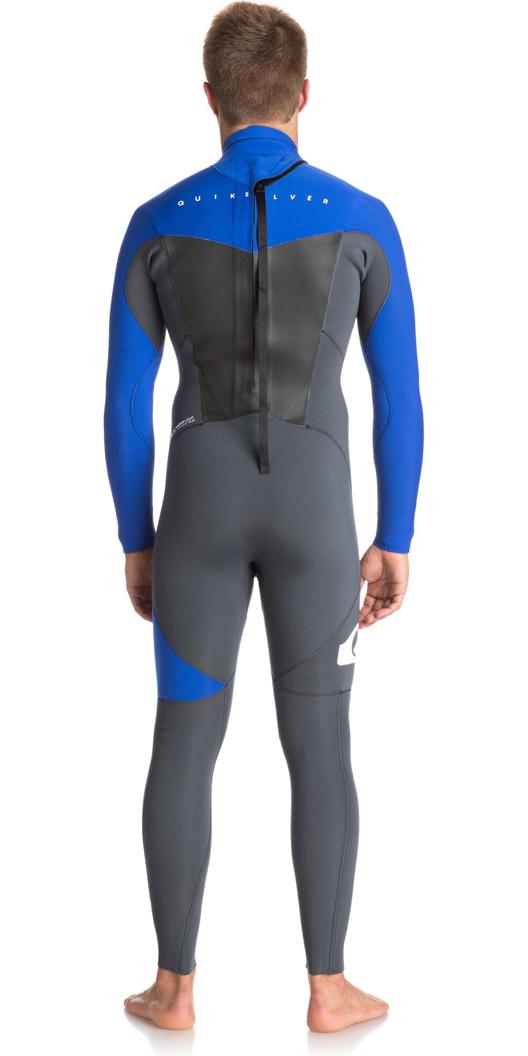 Quiksilver Syncro Series 3/2mm GBS Back Zip Wetsuit GUNMETAL / ROYAL BLUE EQYW103037
