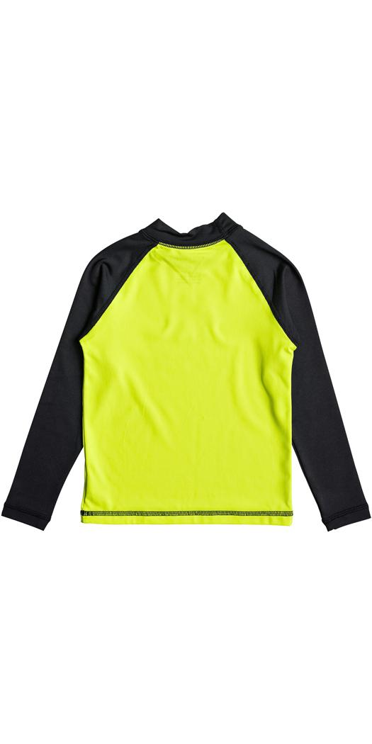 Quiksilver Boys Bubble Dream Long Sleeve Rash Vest SAFETY YELLOW EQKWR03023