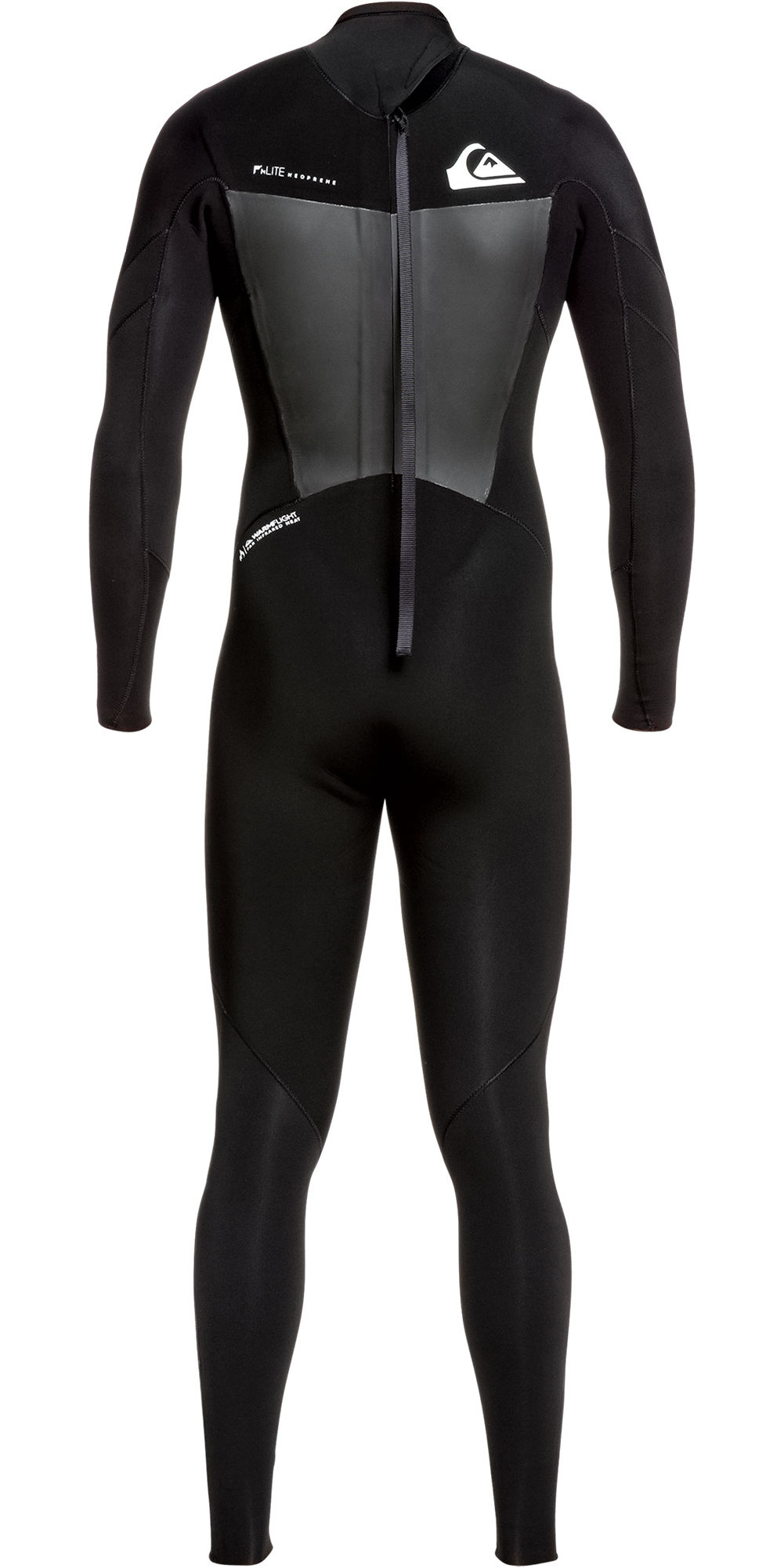 2019 Quiksilver Mens Syncro 4/3mm Back Zip Wetsuit Black / White EQYW103086