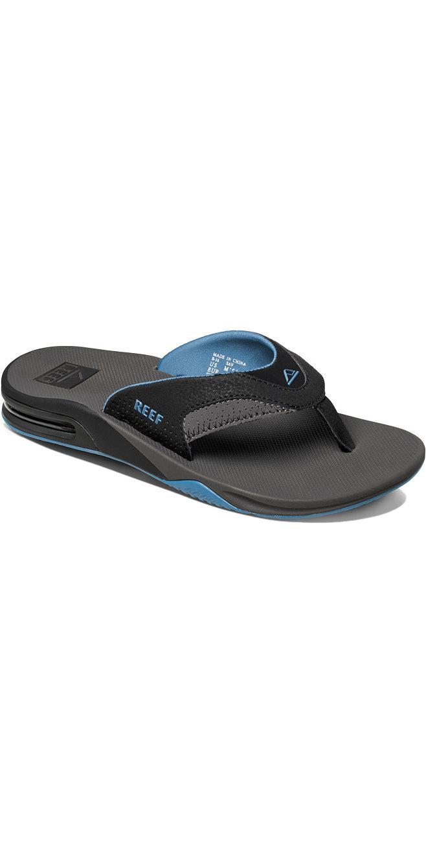 813a6a6f35aa5 Reef Fanning Bottle Opener Flip Flops Grey Light Blue R2026 - Flip Flops -  Footwear - by Reef | Wetsuit Outlet