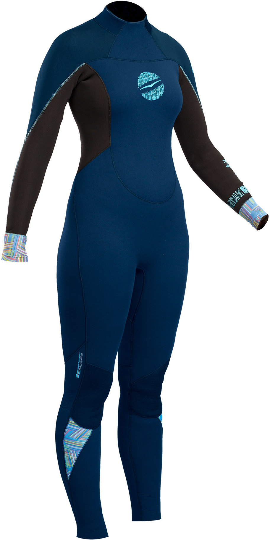 2019 Gul Response Womens 4/3mm GBS Back Zip Wetsuit Navy / Black RE1248-B4