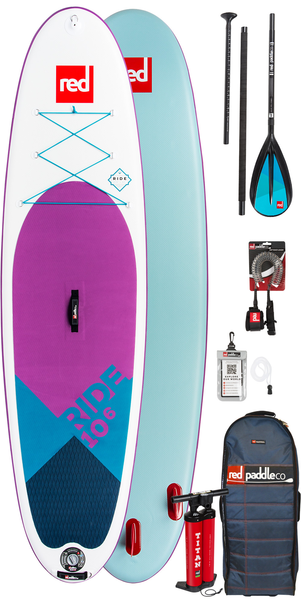 2019 Red Paddle Co Ride 10'6 SE Inflatable Stand Up Paddle Board - Alloy Paddle Package