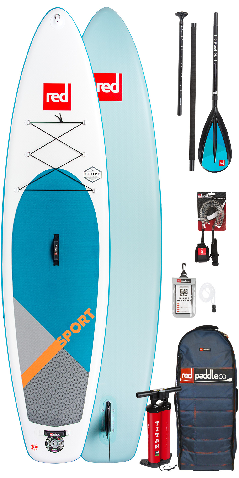 0f7d1a549ee2 2019 Red Paddle Co Sport 126 Inflatable Stand Up Paddle Board Bag Pump  Paddle & Leash | Wetsuit Outlet
