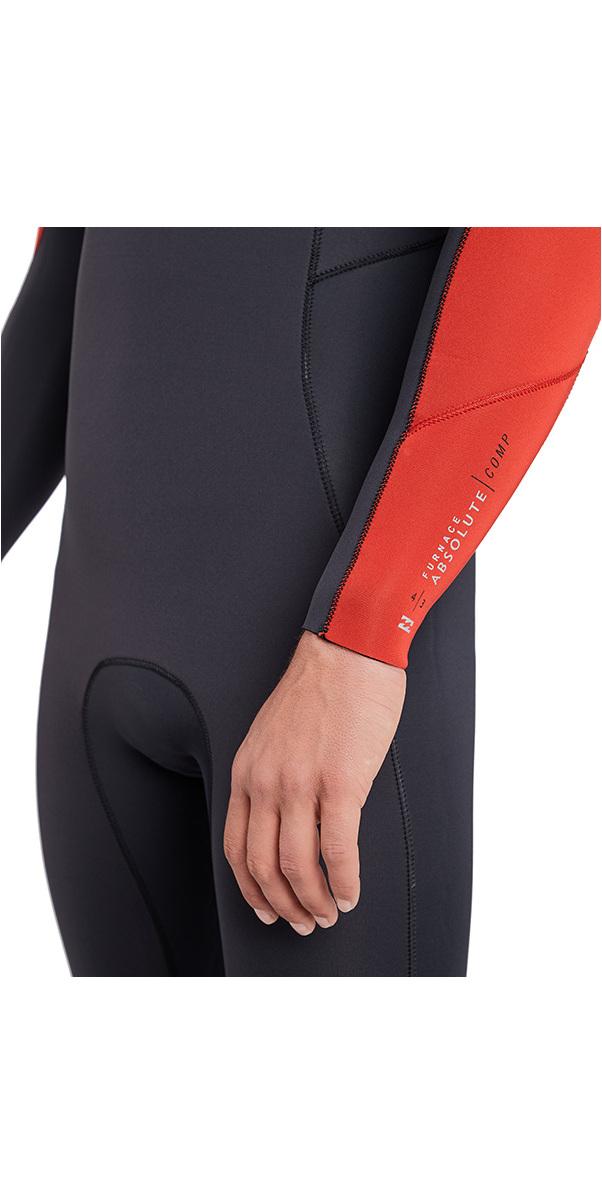 2019 Billabong Furnace Absolute 4/3mm Chest Zip Wetsuit Red L44M09