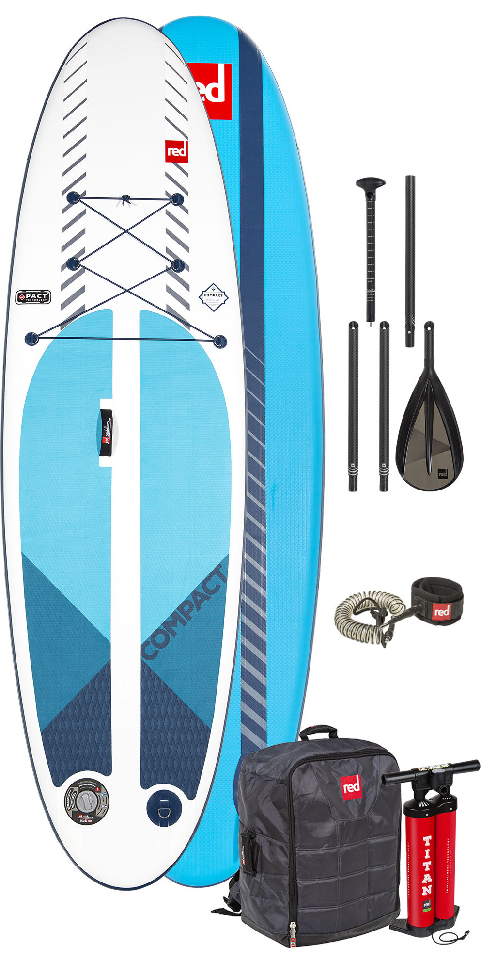 4bdc1e7c01 2019 Red Paddle Co 9'6 Compact Inflatable SUP Package - Board, Bag, Pump,  Paddle & Leash