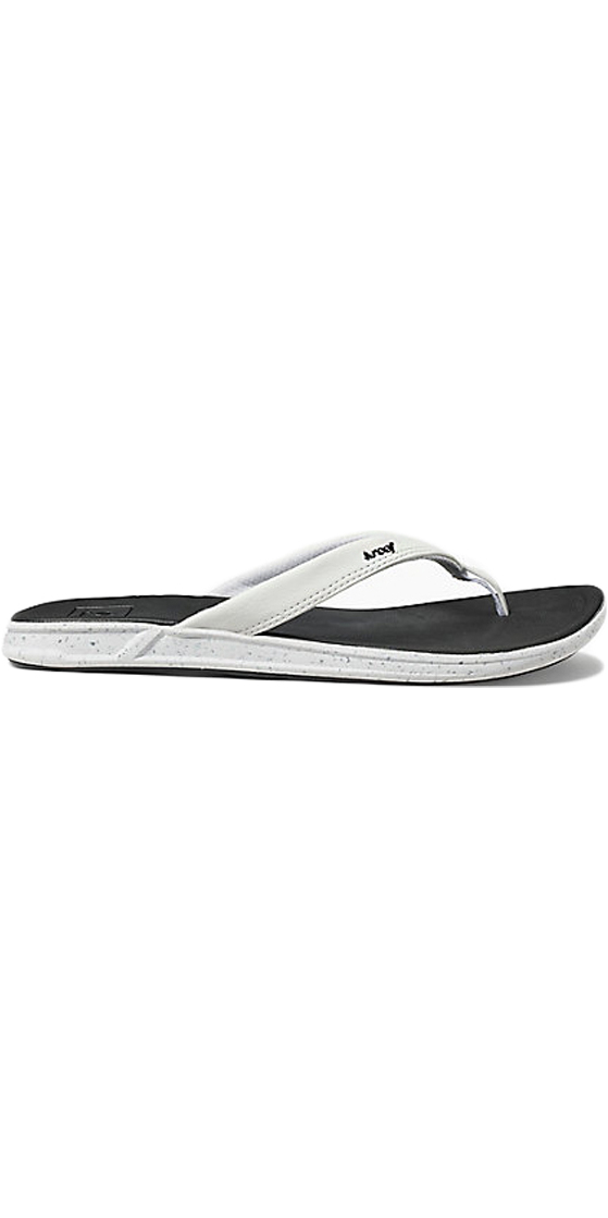 6fd6e478f7ae 2018 Reef Womens Rover Catch Pop Flip Flops BLACK   WHITE RA3FEQ ...