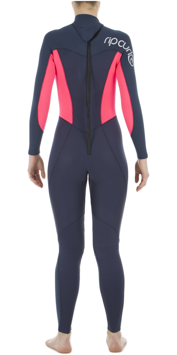 2019 Rip Curl Womens Omega 4/3mm Back Zip Wetsuit Neon Pink WSM4CW