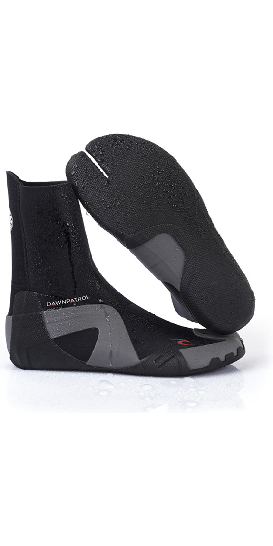 2020 Rip Curl Dawn Patrol 3mm Split Toe Neoprene Boots BLACK WBO7AD