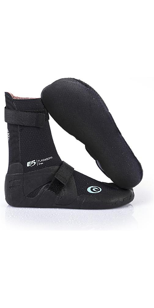 2019 Rip Curl Womens Flashbomb 5mm Split Toe Neoprene Boots Slate WBO7DW