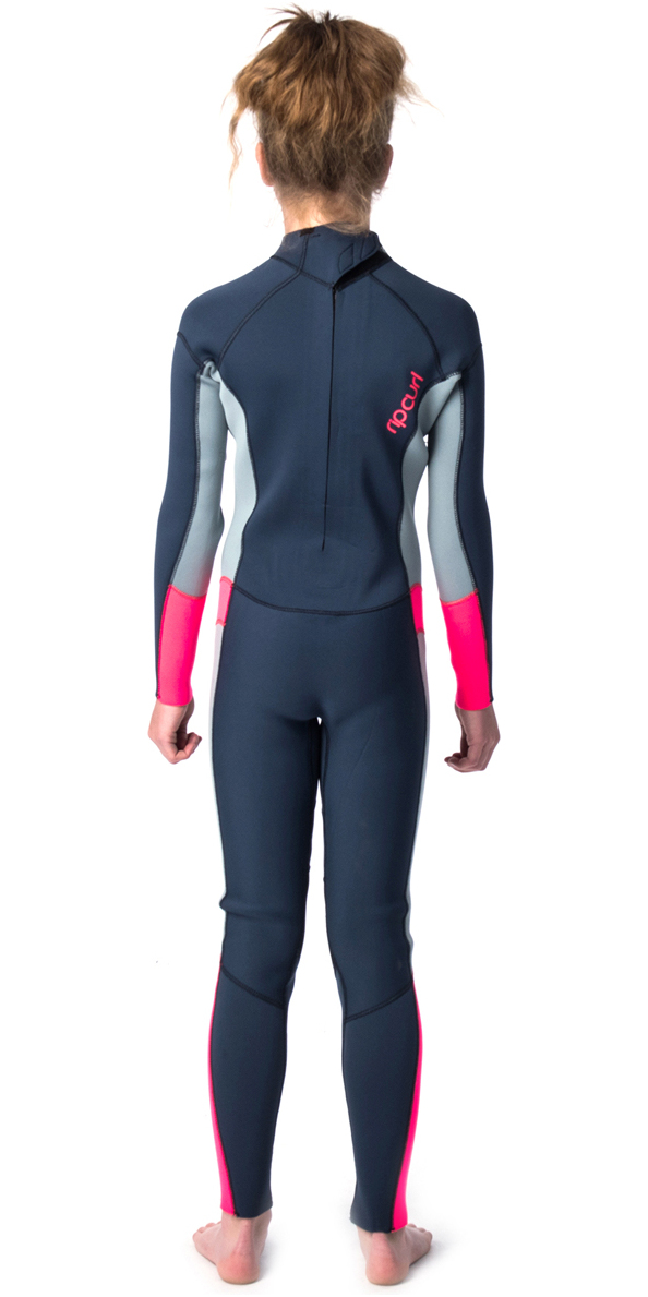 2019 Rip Curl Junior Dawn Patrol 4/3mm Back Zip Wetsuit PURPLE WSM8BJ