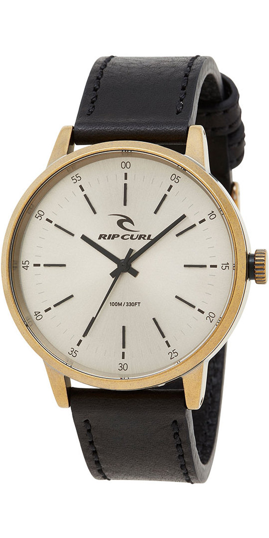 Rip Curl Drake Leather Watch Old Gold A3003