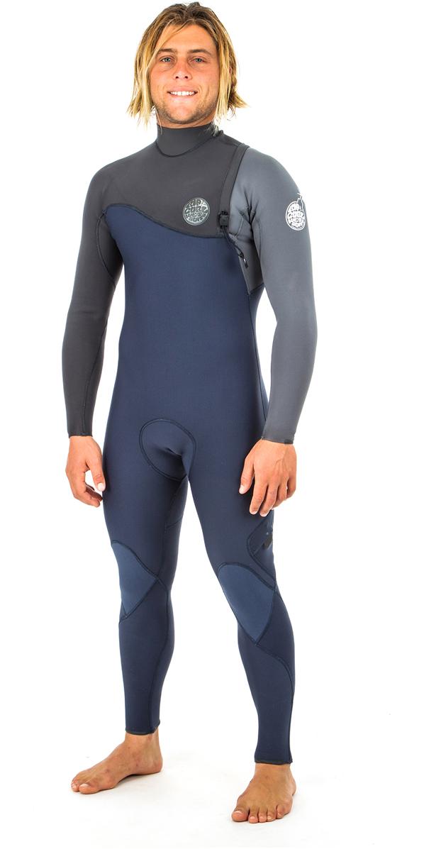 2019 Rip Curl E-Bomb 5/3mm Zip Free Wetsuit SLATE WSM8PE