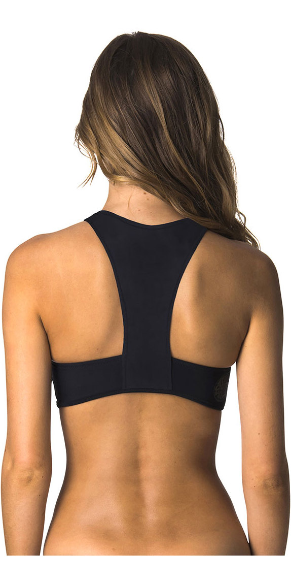 2019 Rip Curl G-Bomb Womens Hi Neck 1mm Neoprene Top Black WVE7JW