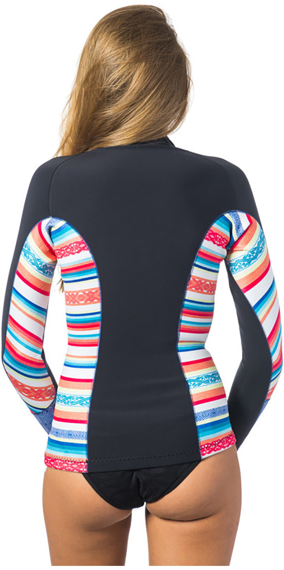 7528ff88a0 Rip Curl Womens G-Bomb 1mm Long Sleeve Front Zip Neo Jacket STRIPE WVE6KW