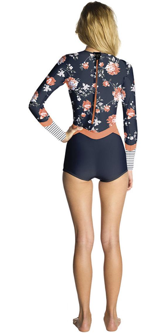 2018 Rip Curl Womens Madi 1mm Long Sleeve Boyleg Shorty Wetsuit Navy WSP7CW  ... 0e7e14064