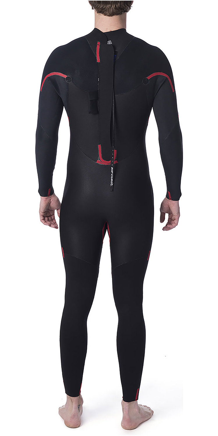 2019 Rip Curl Omega 3/2mm GBS Back Zip Wetsuit BLACK WSM8LM