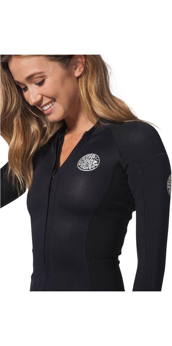 Rip Curl Womens Dawn Patrol 1.5mm Long Sleeve Neo Jacket Black WVE7BW